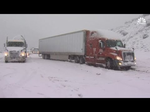 Winter storm slams Southern California, causing road closures and delays