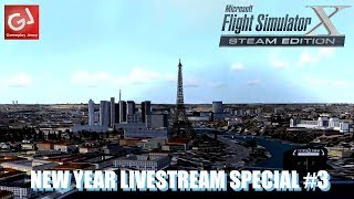 DRIVING INTO 2018 #3: Let's Play Microsoft Flight Simulator X (Badly) - LIVE!