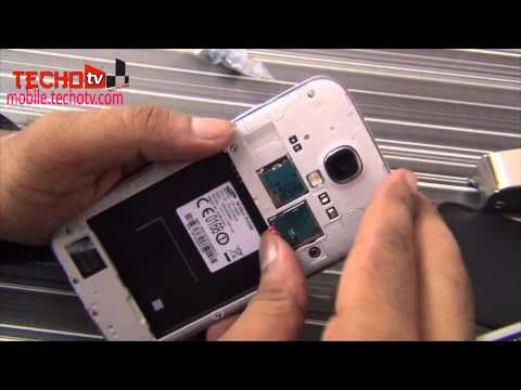 How to insert SIM Card. Memory Card in Samsung Galaxy S4
