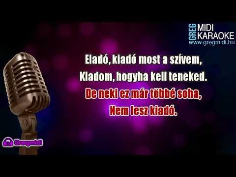Apostol - Eladó, kiadó most a szívem karaoke demó