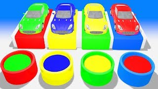 Colors for Children to Learn with Street Vehicles Hot Wheel Cars Super Crazy Kids Colors