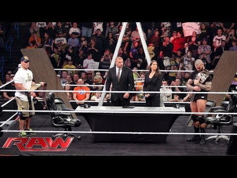 John Cena And Randy Orton Sign The Contract For Their Tlc Match: Raw, Dec. 2, 2013 video