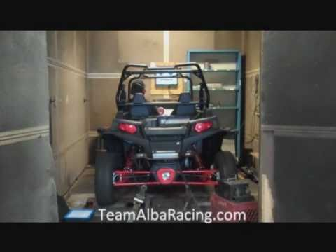 ALBA RZR XP 900 ON THE DYNO WITH EXHAUST AND FUEL CONTROLLER