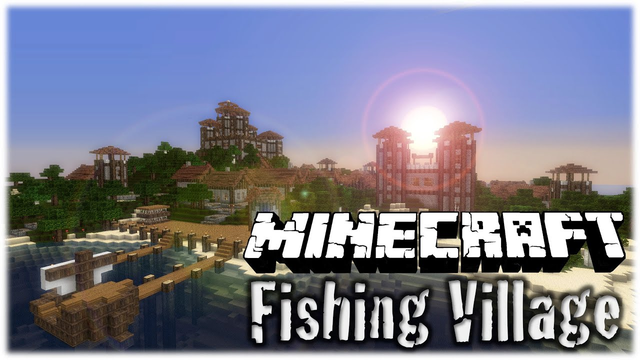 Minecraft - Fishing Village HD - YouTube