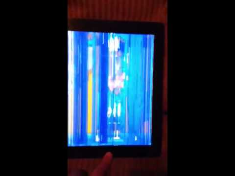 Ipad 2 Problem Blue Screen Weird What Happend Youtube