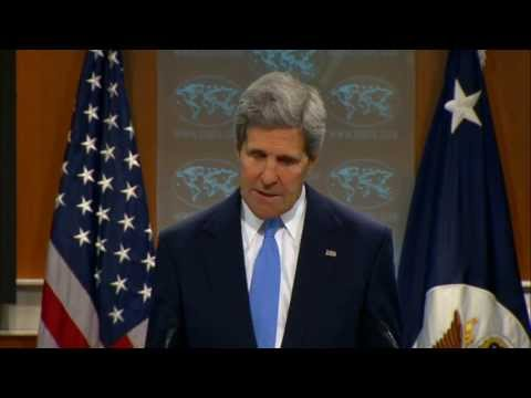 Secretary Kerry and Ambassador Johnson Cook Present the 2012 International Religious Freedom Report