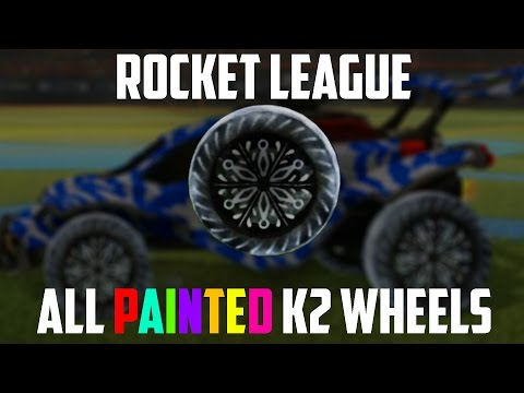 Rocket League | All PAINTED K2 Wheels SHOWCASE! | Nitro Crate