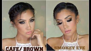 AHUMADO en CAFE / Brown Smokey Eye Makeup Tutorial | auroramakeup