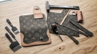 Making a D.I.Y. Louis Vuitton Cowboy Wallet! (Part 1)