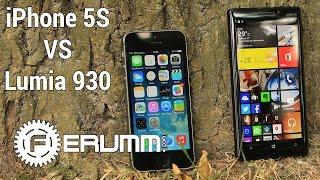 Nokia Lumia 930 vs iPhone 5S честное сравнение. iPhone 5S vs Lumia 930 битва флагманов от FERUMM.COM