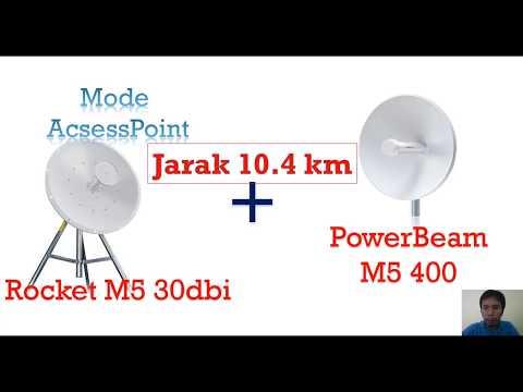Review Hasil Rocket M5 dengan PowerBeam M5 400 jarak 10.4km +