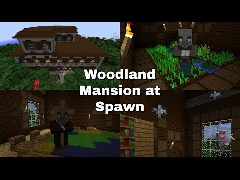 Woodland Mansion at Spawn Seed! - Minecraft Bedrock Edition