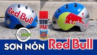 Hướng dẫn tự sơn nón bảo hiểm phong cách Redbull cực đẹp - Paint Redbull Helmet