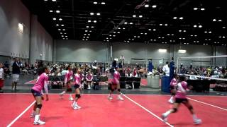 AAU Volleyball National Tournament 2012 , Camille 10 years old & Kamelia 9 . Team Ponce Volleygirls