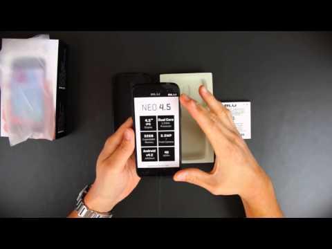 BLU Neo 4.5 Unboxing - English Version