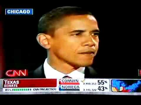 Barack Obama Wins! Victory Speech US President 2 of 3
