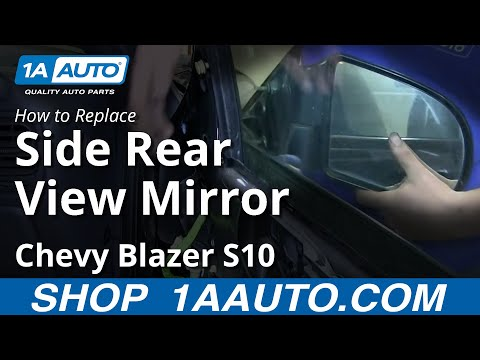 How To Install Replace 2 Door Side Rear View Mirror Chevy S10 Blazer GMC Jimmy