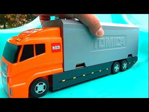 Big Orange Truck & Blue Track & Big Lightning McQueen Toy