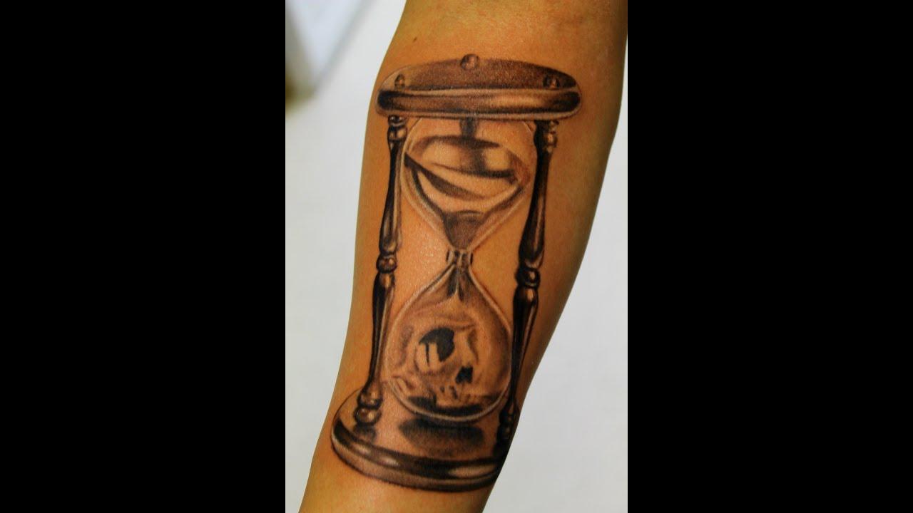 Sand Timer Tattoo Designs