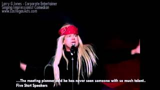 Guns N Roses Parody -  Clean Corporate Comedian delivers 75 voices/hr for your corporate event