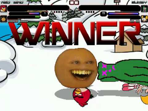 TheMattalocalypse Random Mugen Battle - 846 - Red Bird/Annoying Orange VS. Gumby/Dee Dee