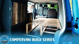 Day 24 - Making a pull out/extendable bed! (Part 2) #VanLife VW T5 Camper Conversion