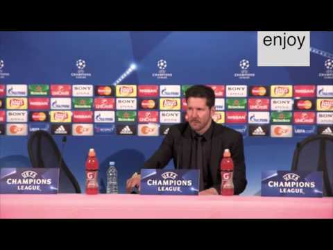 Champions semifinals Simeone and Guardiola after match