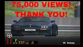 Gran Turismo 3 Like the Wind in an Aston Martin V8 Vantage! 75,000 VIEWS! CLOSE RACE AGAIN! UPDATES!