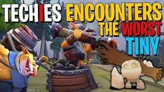 Techies Encounters the Worst Tiny EVER - DotA 2 Funny Moments