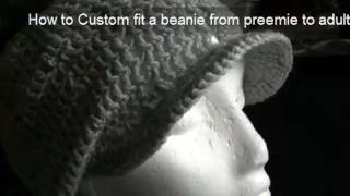 How to Crochet a Brim/Peak onto a Beanie