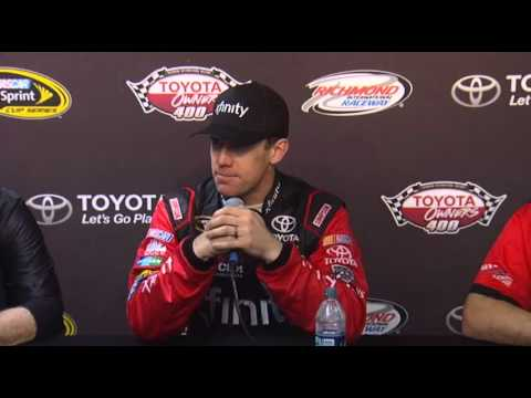 NASCAR Media Center Interview Carl Edwards, Joe Gibbs, Dave Rogers at RIR - Let's Talk Racing