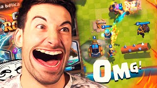 ¡¡LA MAYOR TROLLEADA CON TODO CARTAS LEGENDARIAS!! TROLL EN ARENA 3! | Clash Royale