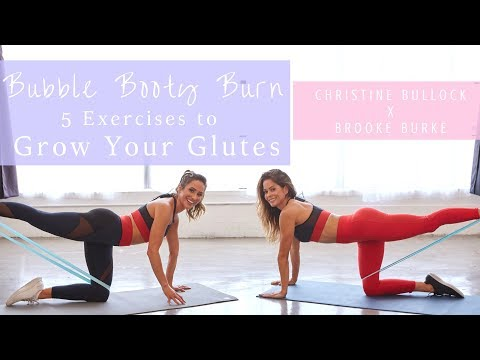 Bubble Booty Burn: 5 Exercises to Grow Your Glutes | Quick Burn | Christine Bullock x Brooke Burke