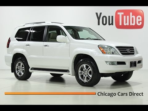 Chicago Cars Direct Presents a 2008 Lexus GX470 4WD. Blizzard Pearl White/Ivory.