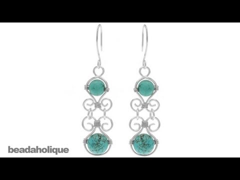 How to Make Wire Wrapped Components for the Desert Shores Earrings