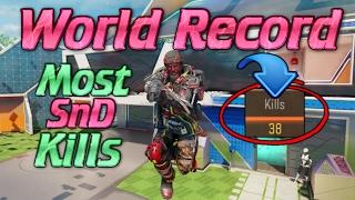 I BROKE THE WORLD RECORD! Most SnD Kills in BO3!