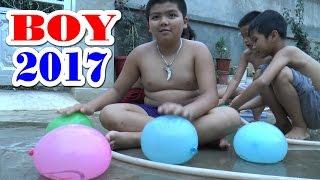 Bé Dương và các anh chơi với bóng nước, Kênh Em Bé ♥