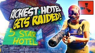 Raiding Insanely Rich Hotel! - Rust Solo Survival Gameplay