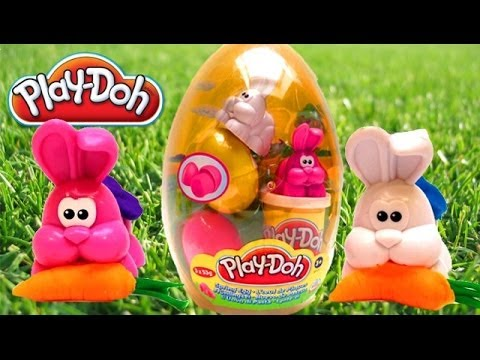 Play Doh Easter Egg Play-Doh Spring Egg Huge Surprise Egg Playdough Hasbro Toys