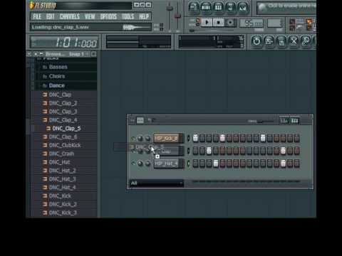 Fl Studio 8 (tutorial)-how To Make A Basic Hip Hop Beat And Use Patterns(part 1 Of 2) video