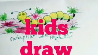 #how to draw a caterpiller colour#marker pen and crayons colour#children#kids#