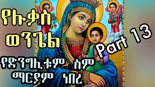 Yednglitu Sim Maryam neber/ Yeluqas Wngel part 13 BY D/N hanok