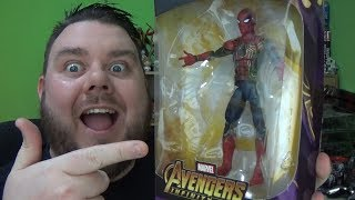 Marvel Legends IRON SPIDER (Spiderman) Avengers Infinity War Thanos BAF Wave Action Figure Review