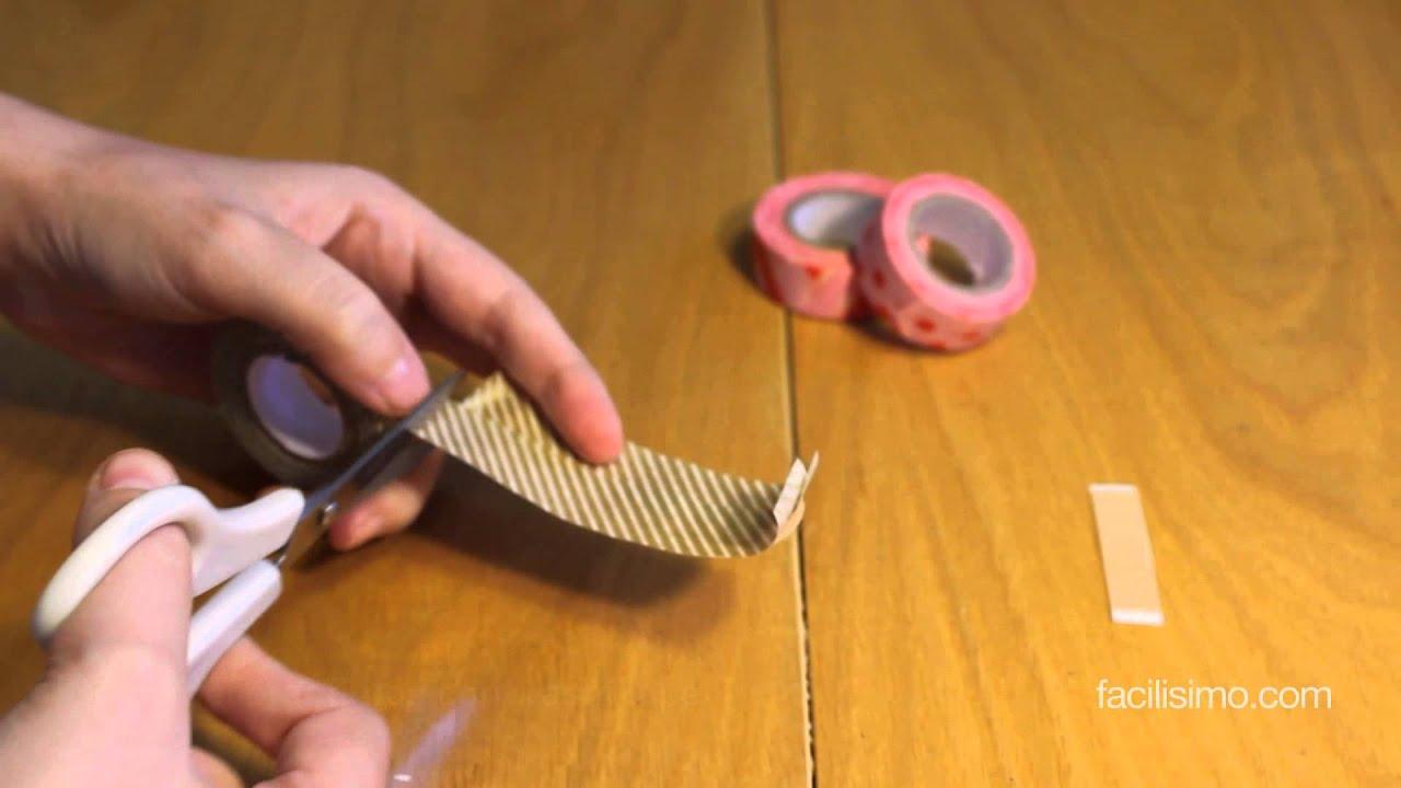 C mo decorar tiritas con washi tape youtube - Como decorar con washi tape ...