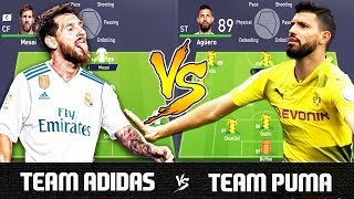 Team Adidas VS Team Puma - FIFA 18 Experiment