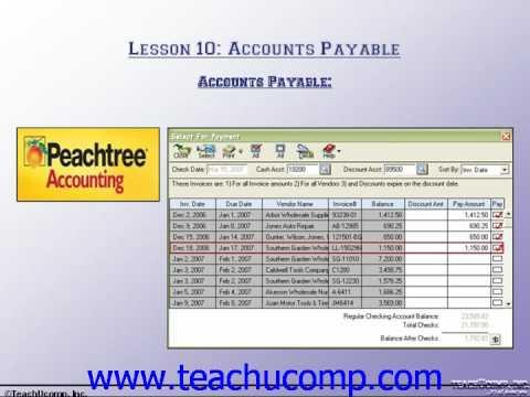 Accounting Tutorial Accounts Payable Training Lesson 10.1