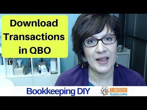 Tips for Downloading Transactions in QuickBooks Online