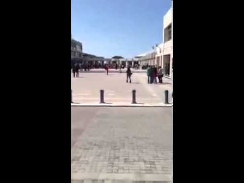 Butt-naked guy jumping around NDU