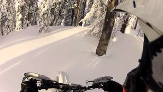The Fastest Boondocking Snow-Bike I've ridden to date.... KTM300SX Timbersled