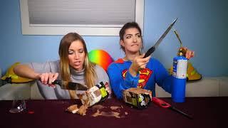 GIRLS USE 1000 DEGREE KNIFE - GONE WRONG